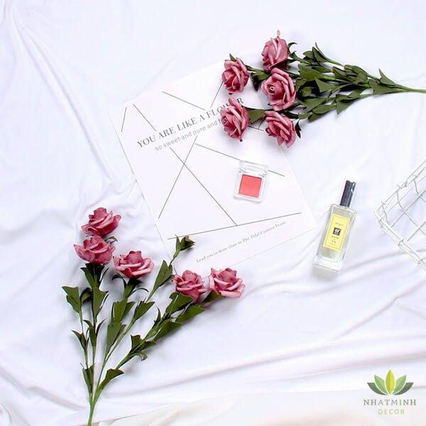 Cành hoa Hồng trang trí chụp ảnh sản phẩm 1