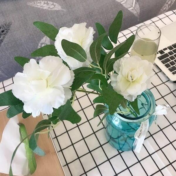 Hoa hồng lụa trang trí nhà cửa, chụp ảnh 12