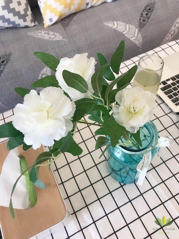 Hoa hồng lụa trang trí nhà cửa, chụp ảnh 6