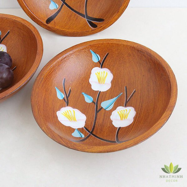 Bát gỗ handmade để trái cây, bánh kẹo 3