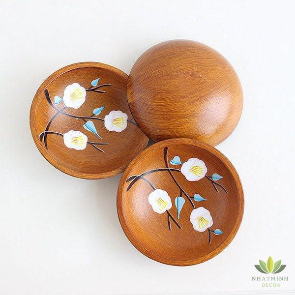 Bát gỗ handmade để trái cây, bánh kẹo 1
