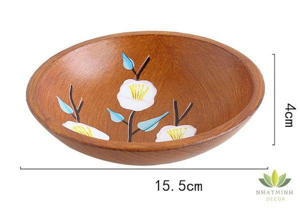 Bát gỗ handmade để trái cây, bánh kẹo 5