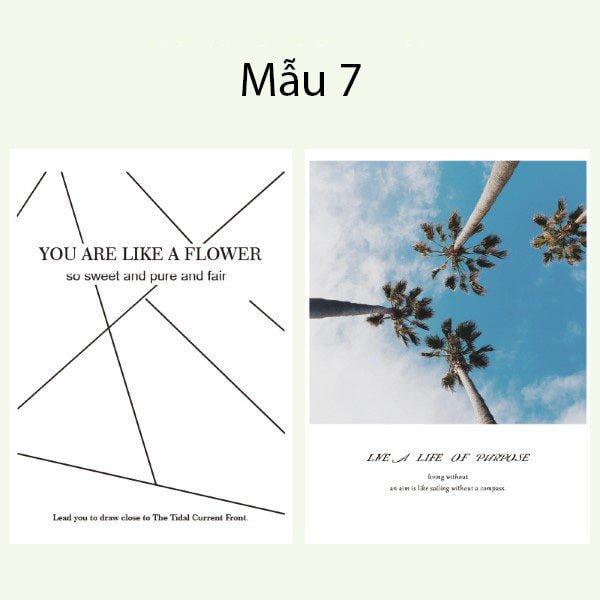 Bìa tạp chí trang trí chụp ảnh 2 mặt phong cách Hàn Quốc 9