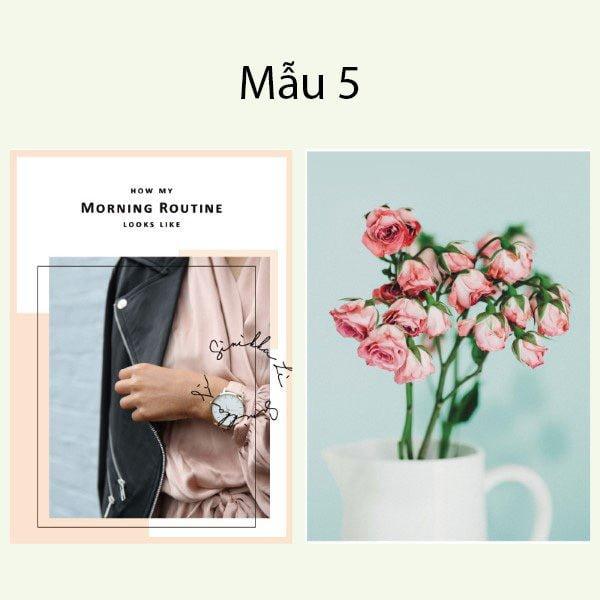 Bìa tạp chí trang trí chụp ảnh 2 mặt phong cách Hàn Quốc 7