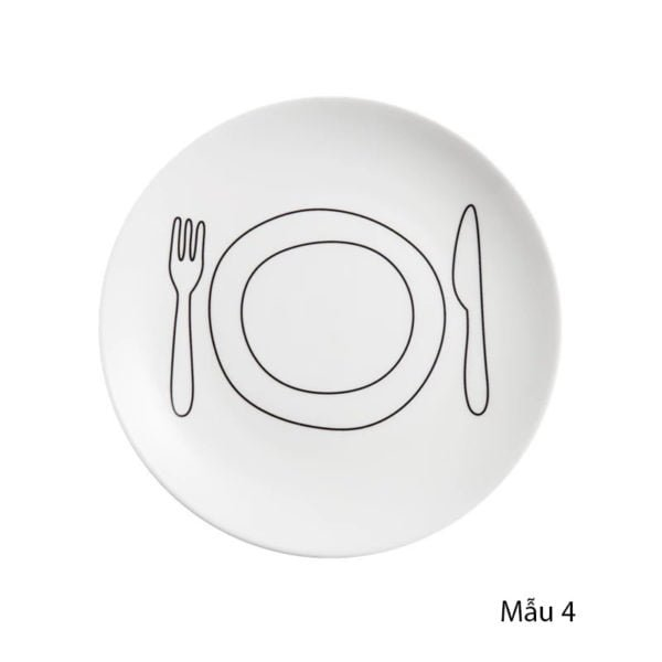 Đĩa sứ chụp ảnh đồ ăn, chụp sản phẩm phong cách Hàn Quốc 1