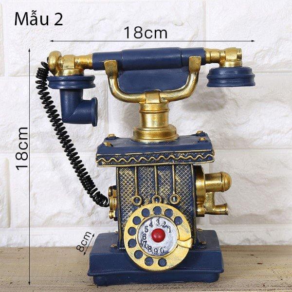 Mô hình điện thoại trang trí phong cách retro 2