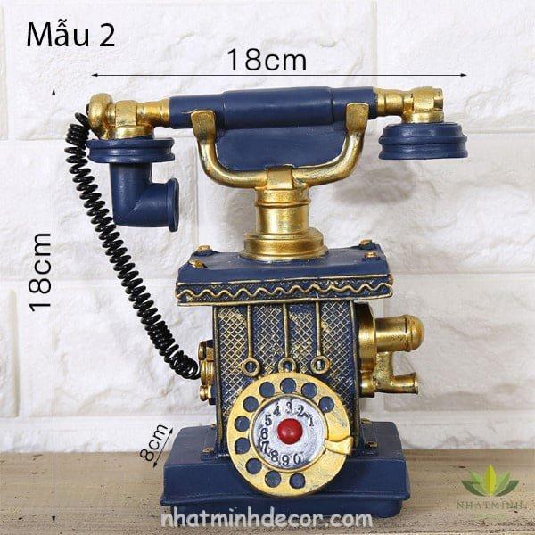 Mô hình điện thoại trang trí phong cách retro 7
