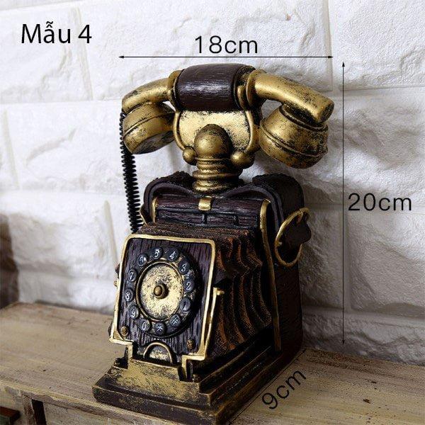 Mô hình điện thoại trang trí phong cách retro 4