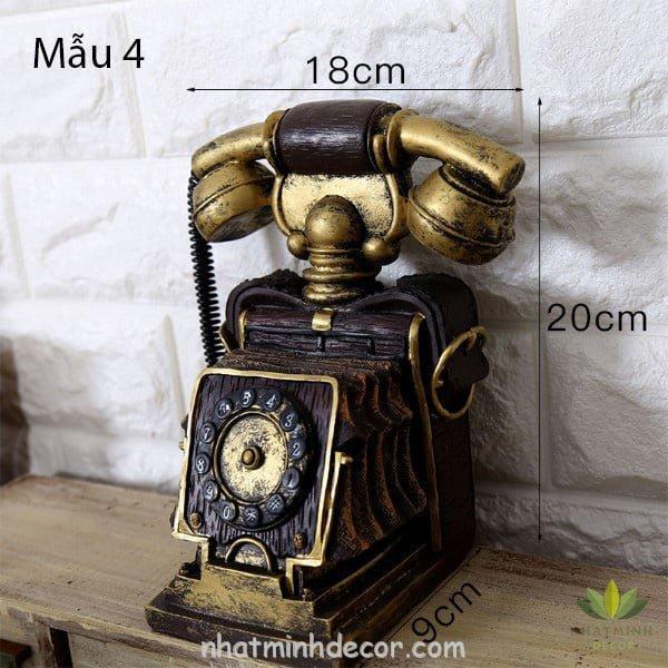 Mô hình điện thoại trang trí phong cách retro 9