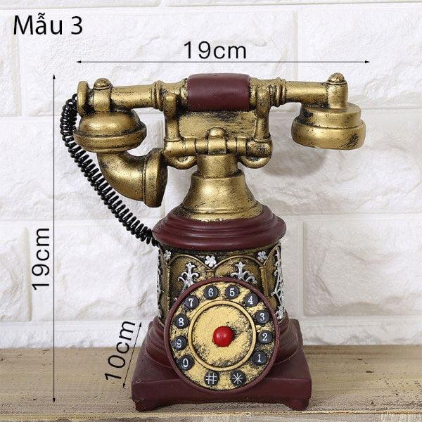 Mô hình điện thoại trang trí phong cách retro 3