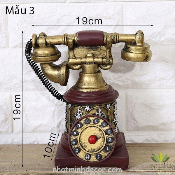 Mô hình điện thoại trang trí phong cách retro 8