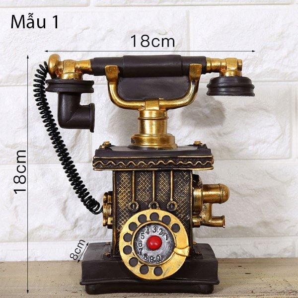 Mô hình điện thoại trang trí phong cách retro 1