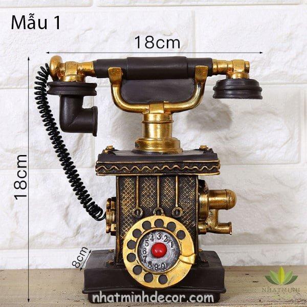 Mô hình điện thoại trang trí phong cách retro 6