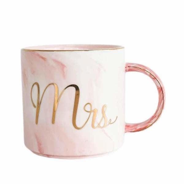 Cốc sứ cẩm thạch Mr & Mrs 3