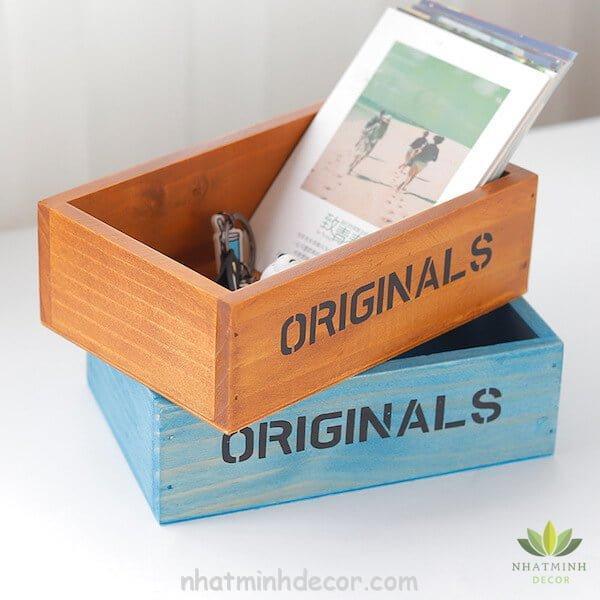 Hộp gỗ để bàn Originals 6