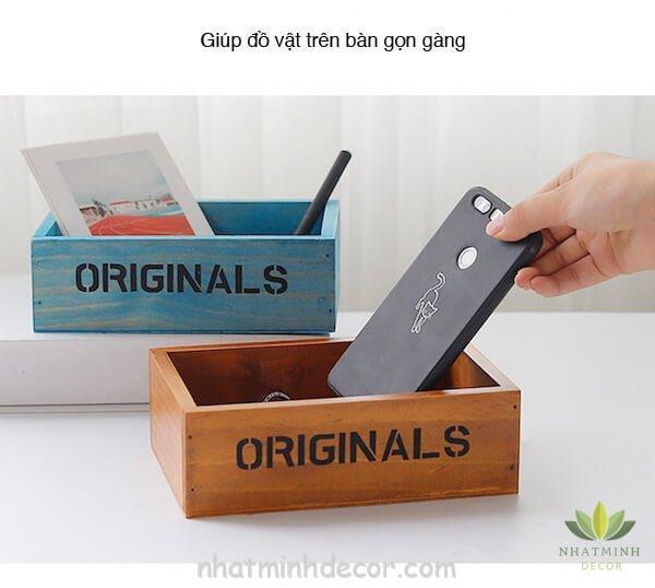 Hộp gỗ để bàn Originals 9