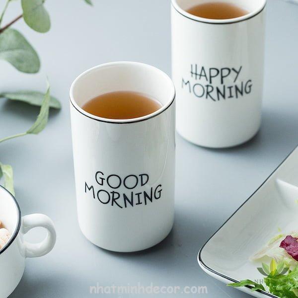 Ly sứ trắng Morning 7