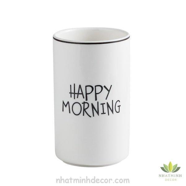 Ly sứ trắng Morning 9