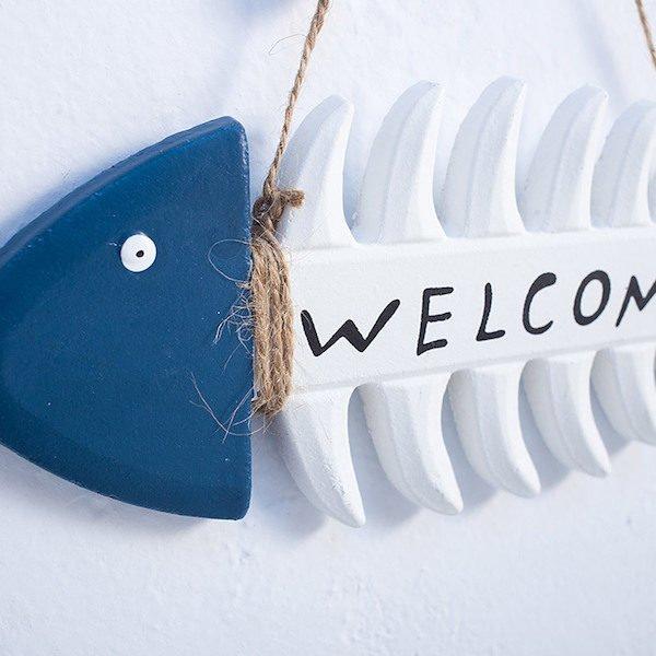 Bảng trang trí Welcome phong cách Địa Trung Hải 1