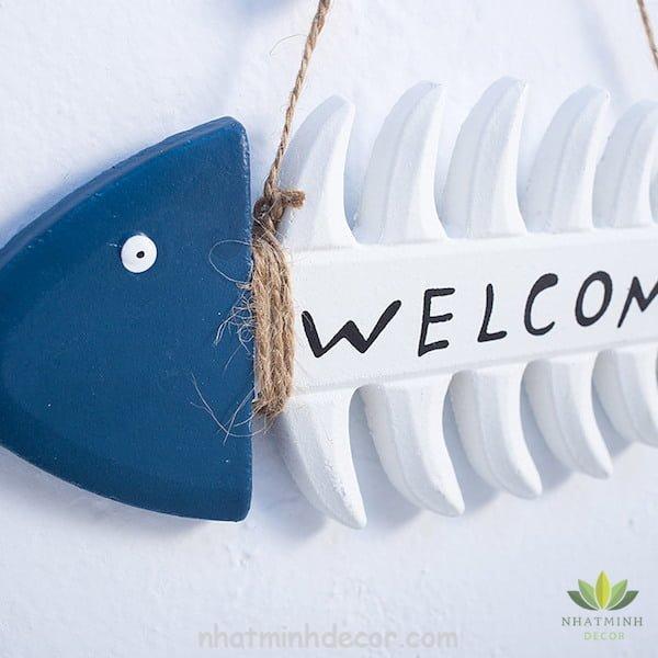 Bảng trang trí Welcome phong cách Địa Trung Hải 3