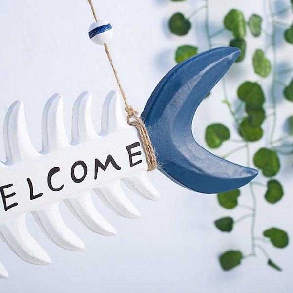 Bảng trang trí Welcome phong cách Địa Trung Hải 2