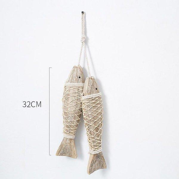 Cá gỗ treo tường 5