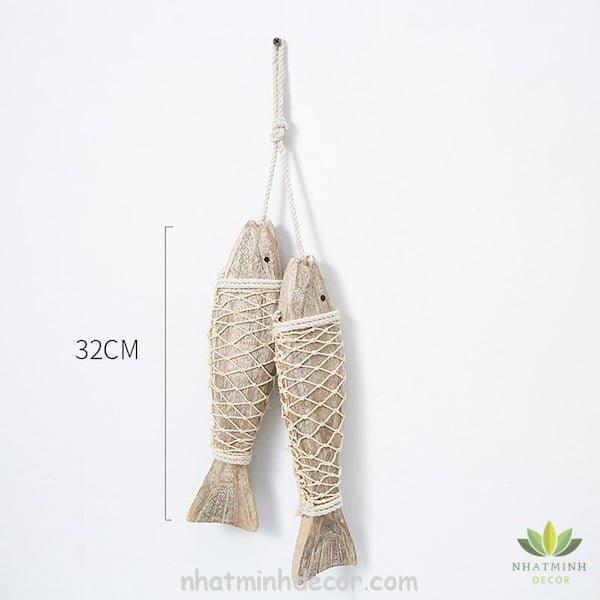 Cá gỗ treo tường 11