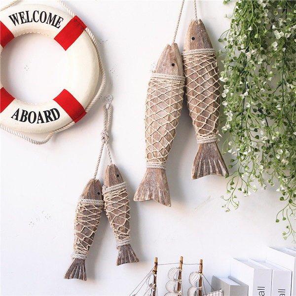 Cá gỗ treo tường 1