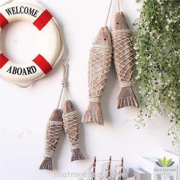 Cá gỗ treo tường 7