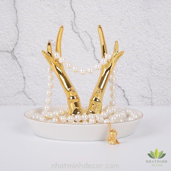 Đĩa sừng hươu vàng 5
