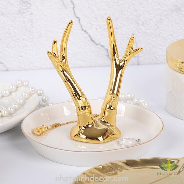 Đĩa sừng hươu vàng 6
