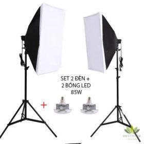 Bộ 2 đèn + 2 bóng đèn 85W