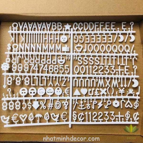 Bảng gỗ kèm theo chữ cái ( 460 chữ) 9