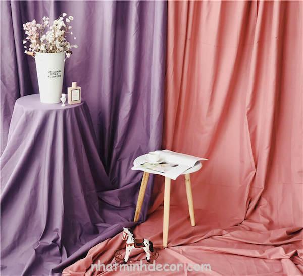 Phông nền vải trơn chụp ảnh lookbook, livestream (nhiều màu) 2
