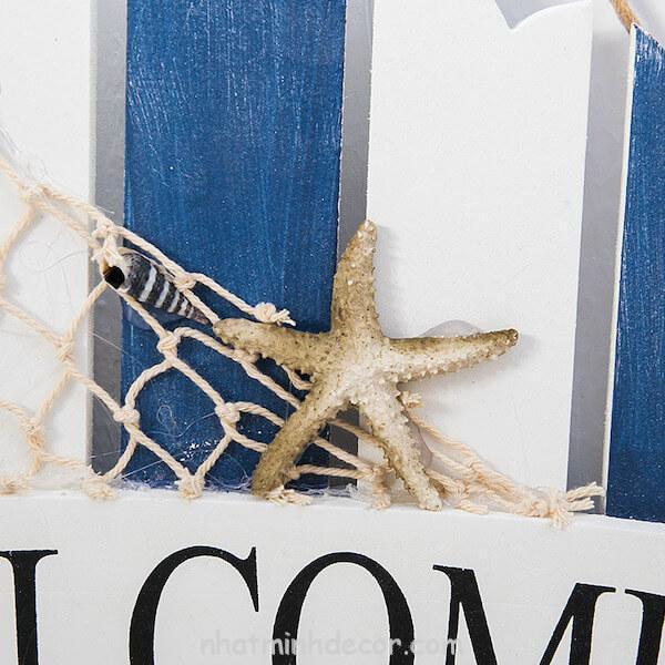 Bảng gỗ WELCOME phong cách biển 3