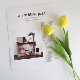Mẫu 3 - White Blank Page