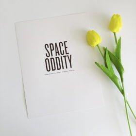 Mẫu 1 - Space Odity