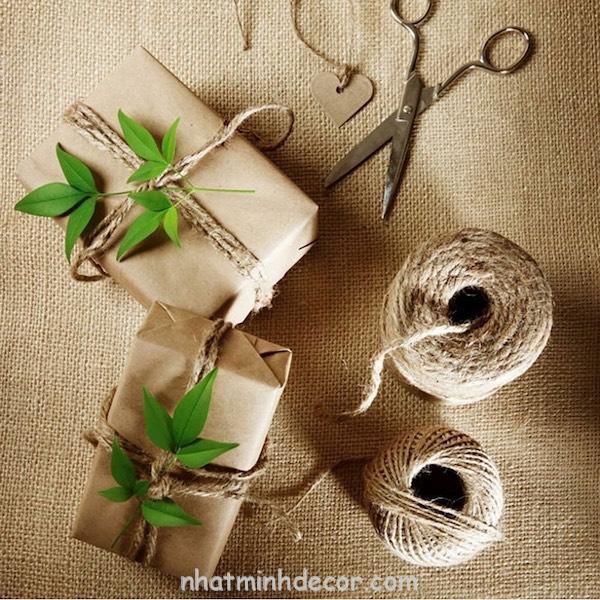 Cuộn dây gai decor, làm đồ handmade 3