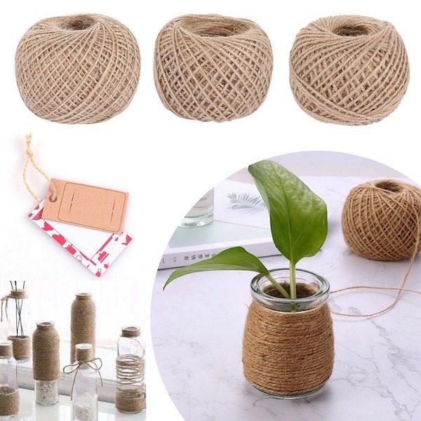 Cuộn dây gai decor, làm đồ handmade 6