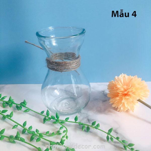 Bình bông lọ hoa thủy tinh 4