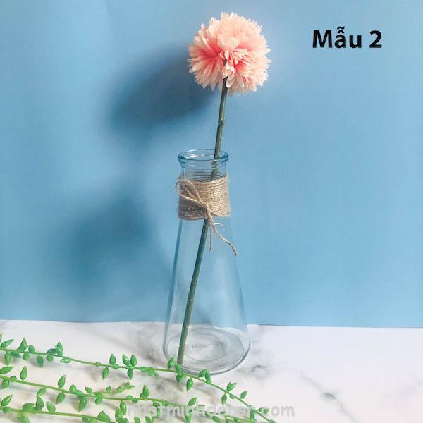 Bình bông lọ hoa thủy tinh 2