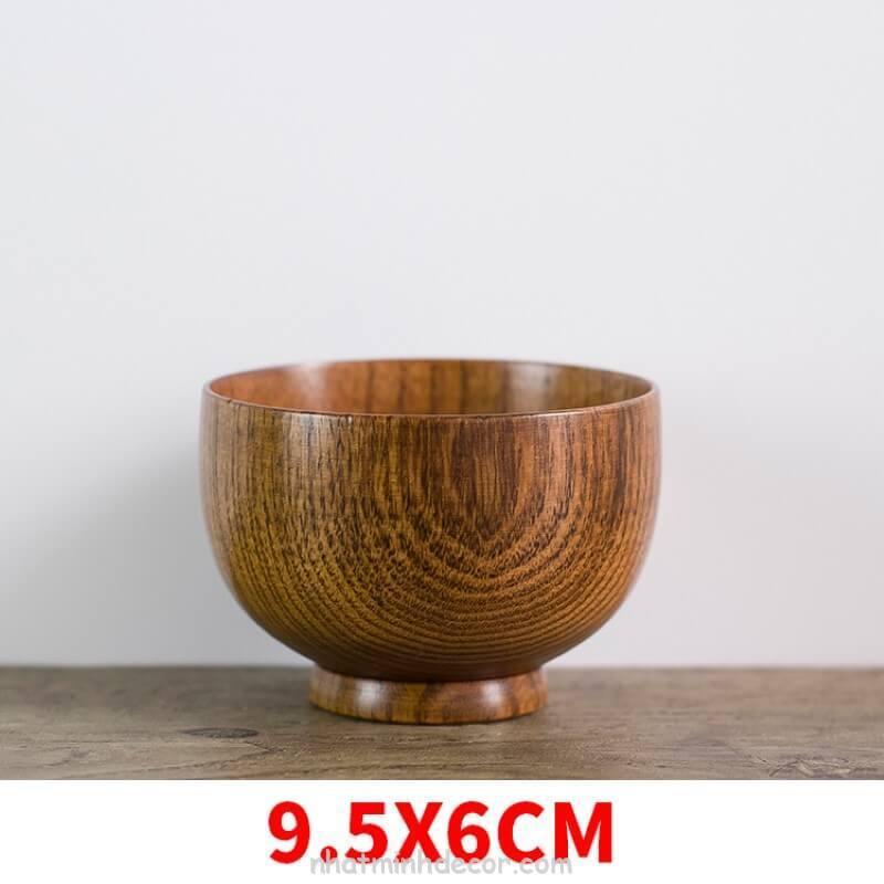 Bát gỗ đạo cụ chụp ảnh đồ ăn 5