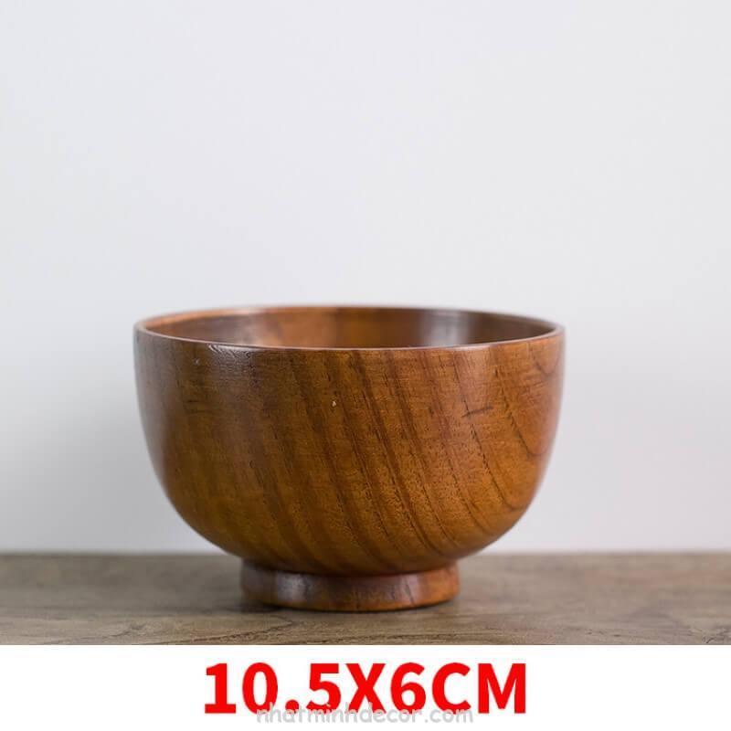 Bát gỗ đạo cụ chụp ảnh đồ ăn 6