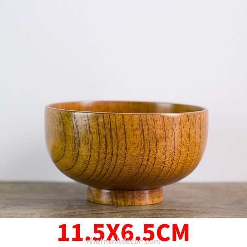 Bát gỗ đạo cụ chụp ảnh đồ ăn 7