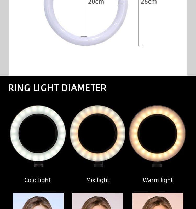 Đèn Led Ring tròn hỗ trợ chụp ảnh, livestream, quay video 26 CM 20