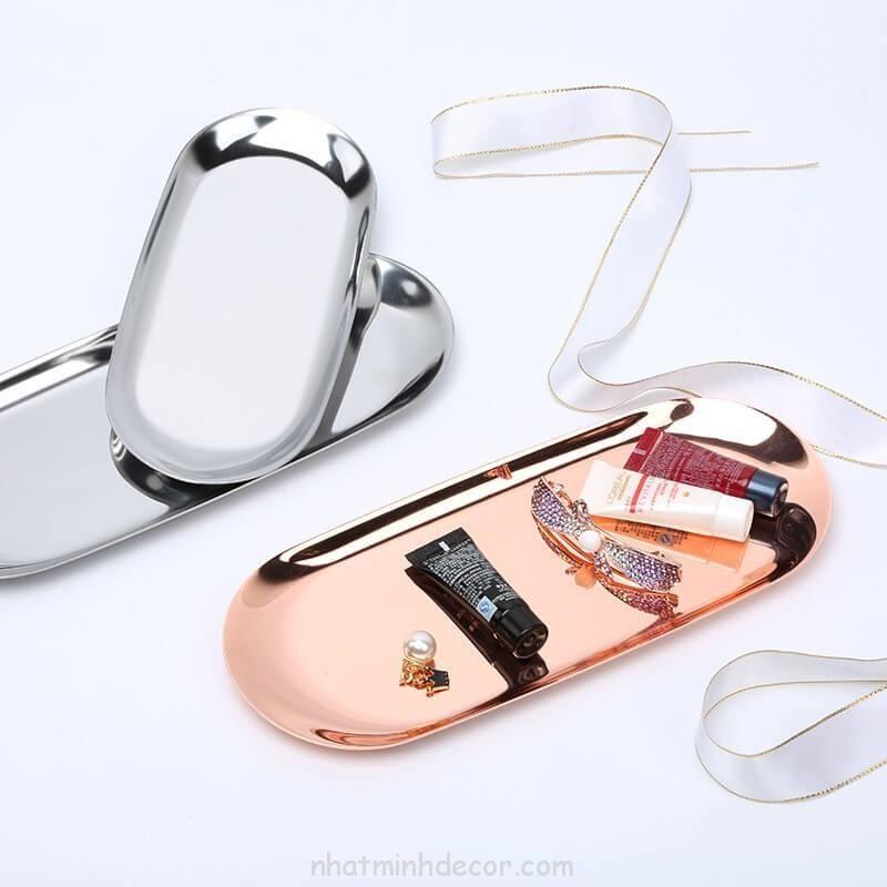 Đĩa hình oval đựng mỹ phẩm, trang sức 6