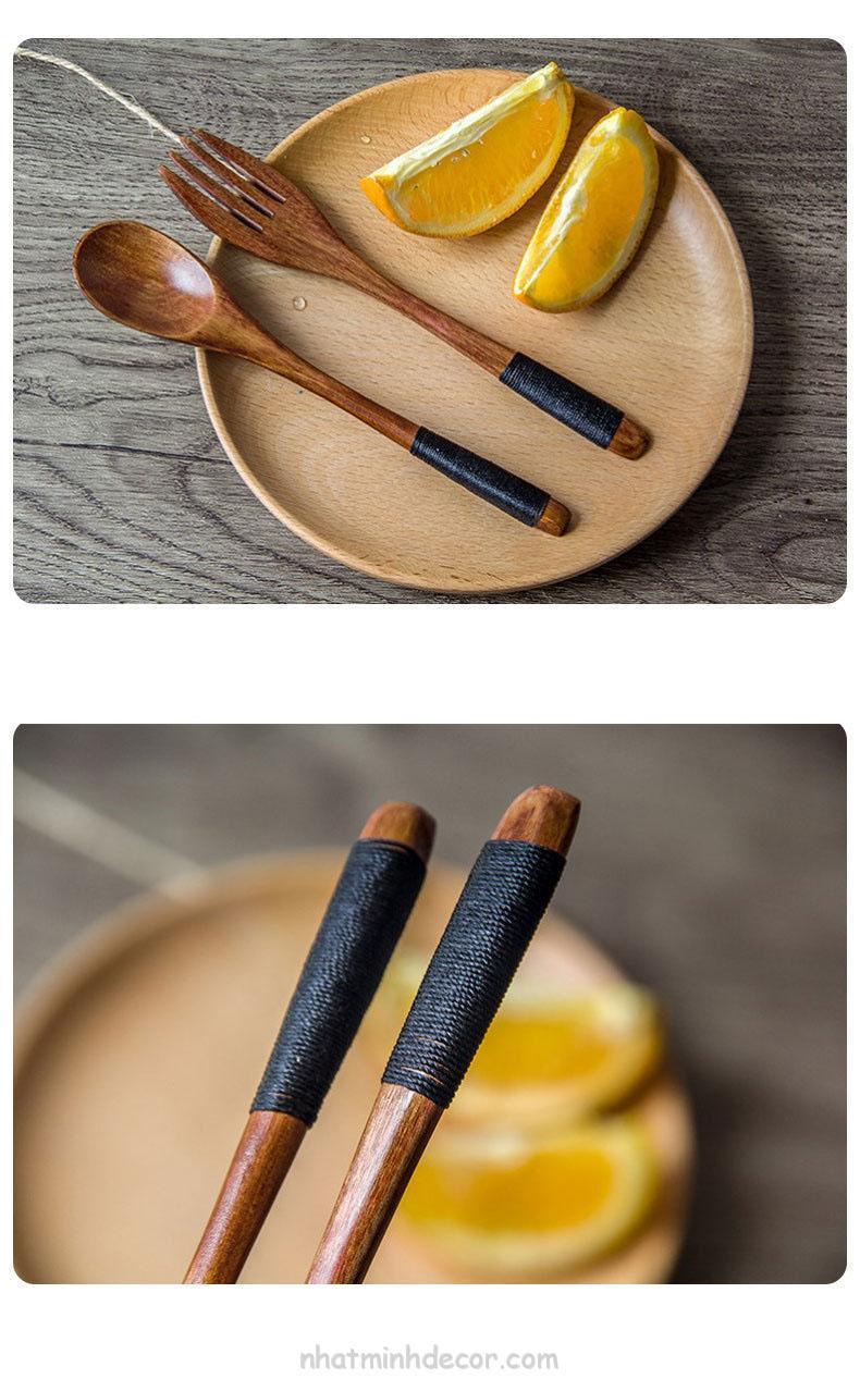 Thìa dĩa gỗ phong cách Nhật bản 12