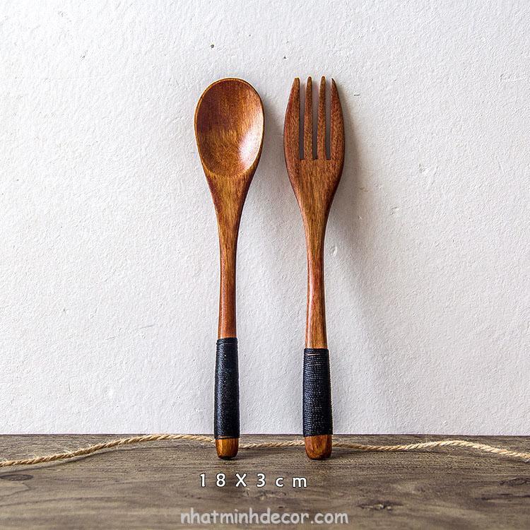 Thìa dĩa gỗ phong cách Nhật bản 5