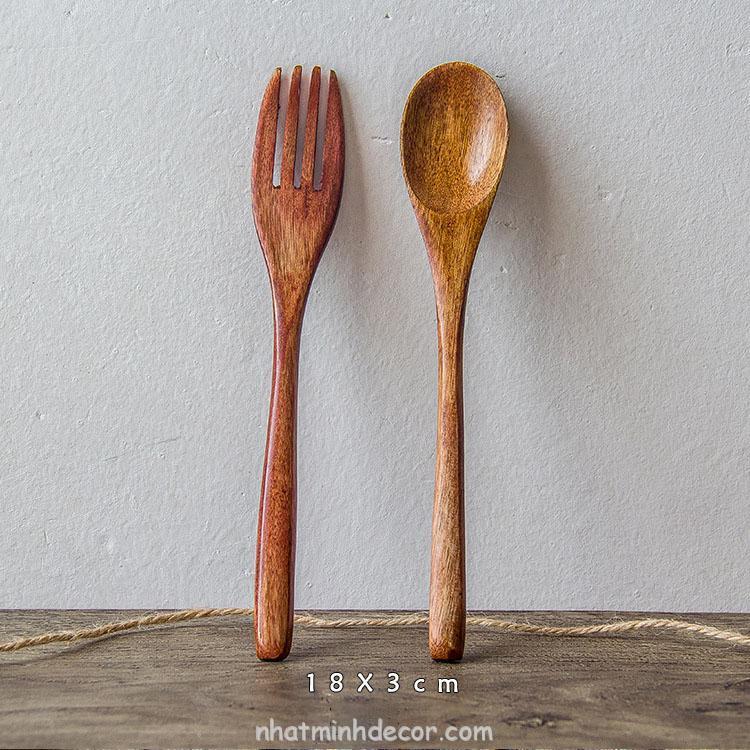 Thìa dĩa gỗ phong cách Nhật bản 4