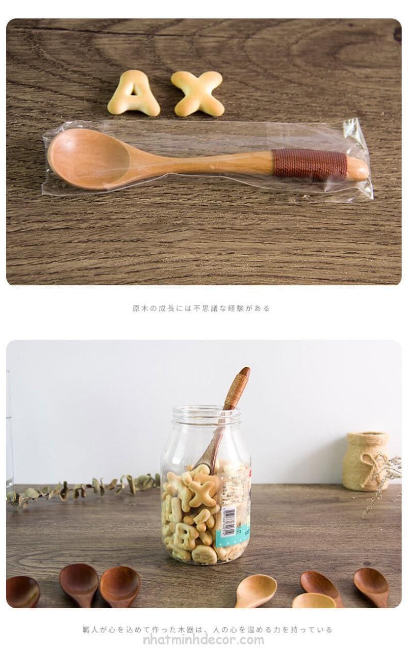 Thìa gỗ phong cách Nhật Bản (cỡ nhỏ) 7